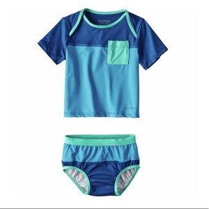 Patagonia Little Sol Swim Set - Infant Boys 6-12m